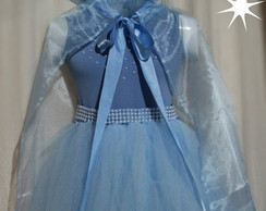 Fantasia Frozen princesa Elsa... LUXO!!!
