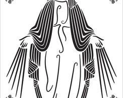 Adesivo  de Parede  e vitral Maria
