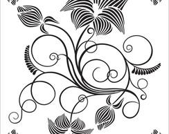 Adesivo  de Parede  e vitral Floral