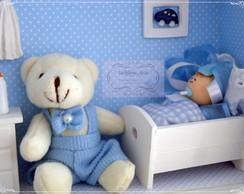Quadro porta maternidade c/ urso