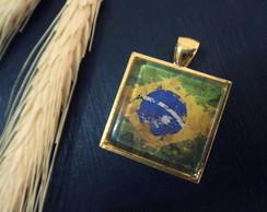 Pingente Folheado Brasil