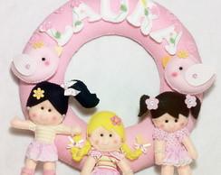 Guirlanda Porta Maternidade Bonecas