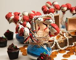 Cake pop personalizado tema pirata