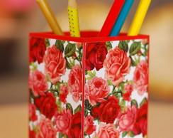 Porta Canetas Floral