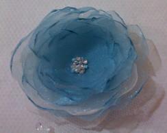 Flor organza azul