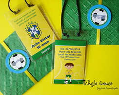 Convite Credencial Futebol