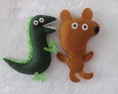Ted e Dino da Peppa Pig