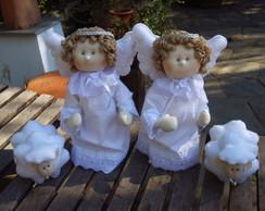2 Anjos Da Guarda e 2 ovelhas