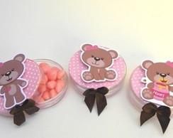Latinhas decoradas marrom e rosa