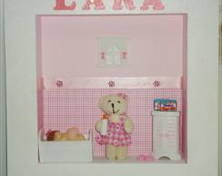 Quadro maternidade c/ urso menina