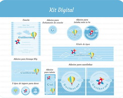 Kit Digital Menino - 8 pe�as