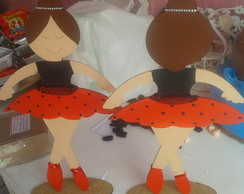 Bailarinas Joaninhas de MDF