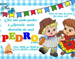 Convite Digital FESTA JUNINA Azul (mod2)