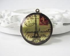 Colar Relic�rio Postal Torre Eiffel