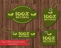 Kit Neg�cios tag 100% natural