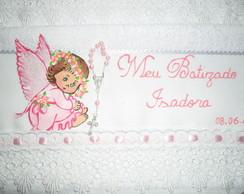 Toalha p/ Batizado Anjinha Rosa Sentada