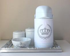 Kit Higiene Coroa Prata Garrafa T�rmica
