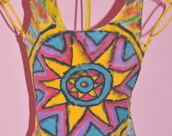 Camiseta regata Mandala Solar