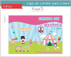 Capa de Livrinho para Colorir Circo