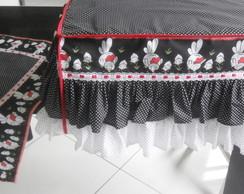 KIT COZINHA GALINHA: capa e pano de mesa
