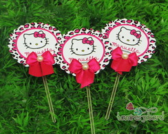 Topper Cupcakes 5cm Hello Kitty Oncinha