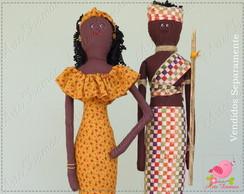 Boneca Africana em tecido