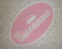 Placa Maternidade Proven�al - Floral Cor
