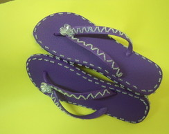 chinelo de borracha adulto decorado
