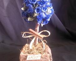 �rvore de mini rosa azul