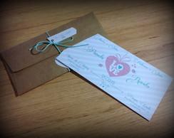 Convite Casamento - Vintage cora��o