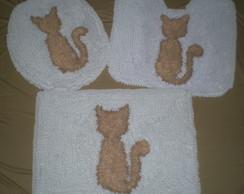 Conjunto de tapetes para banheiro