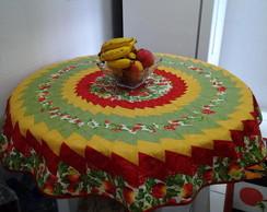 Projeto toalha mesa redonda de Patchwork