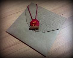 Convite Casamento - Folha Vermelha