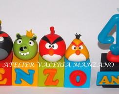 Topo De Bolo Em Cubos Angry Birds