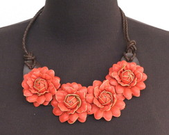 """Maxi colar """"FLOWERS RED"""""""