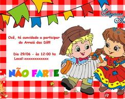 Convite Digital FESTA JUNINA vermelho