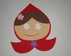 M�scara da Chapeuzinho vermelho