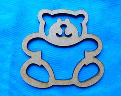 recorte de urso vazado 12 cm