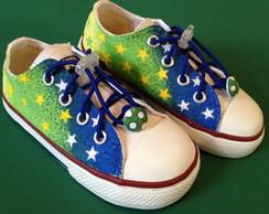 All Star pintado a m�o Stars Brasil