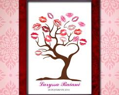 �rvore de Beijos - gravura impressa
