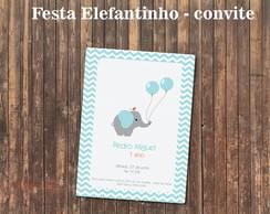 Convite Elefante Elefantinho Girl or Boy