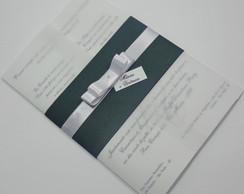 Convite Vegel - Verde e Branco