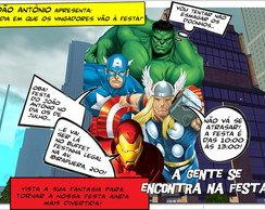 Convite Virtual Vingadores digital