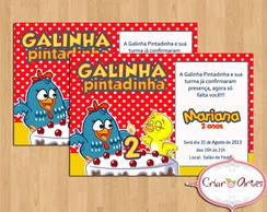 Convite Galinha Pintadinha mod.2
