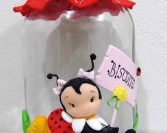 Joaninha - Potes decorados com biscuit