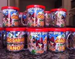 Kit 20 Canecas do tema Angry Birds