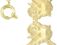 Colar P�ssaros folhedo a ouro