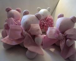 Ursinho- Compos� em rosa (14cm)