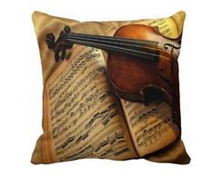 Capa De Almofada 40x40 - Violino Mc015