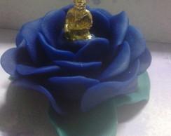 2501-Flor de L�tus Azul escura/Kuan Yin